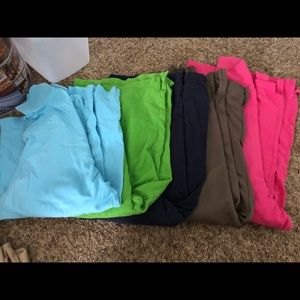 Tops - Solid colored Polo shirts